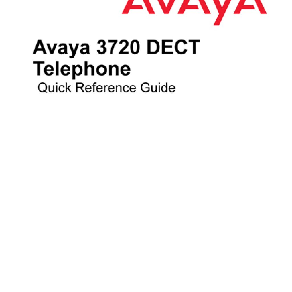 Avaya 3720 IP Dect User Manual 1024x1024 - Training Documents