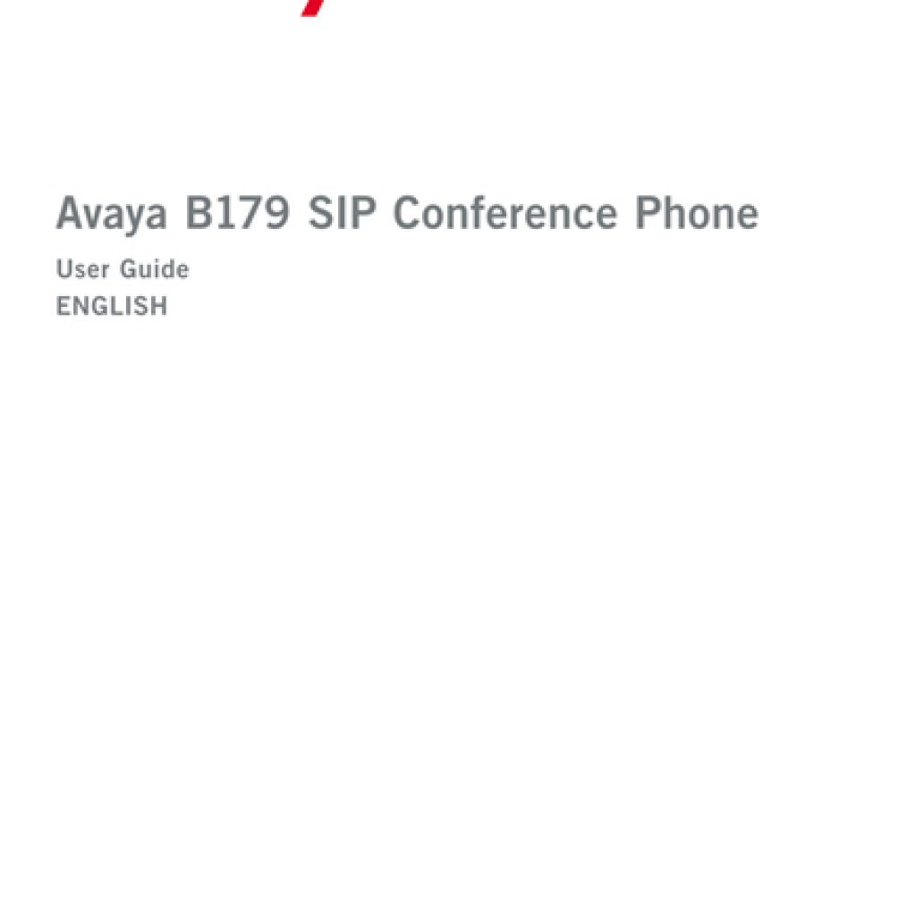 Avaya B179 SIP Conference Phone User Manual 1024x1024 - Training Documents